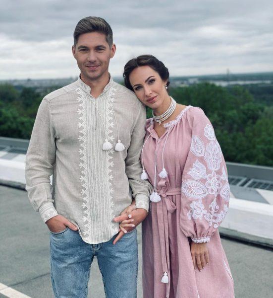 Владимир Остапчук с женой Кристиной Горняк