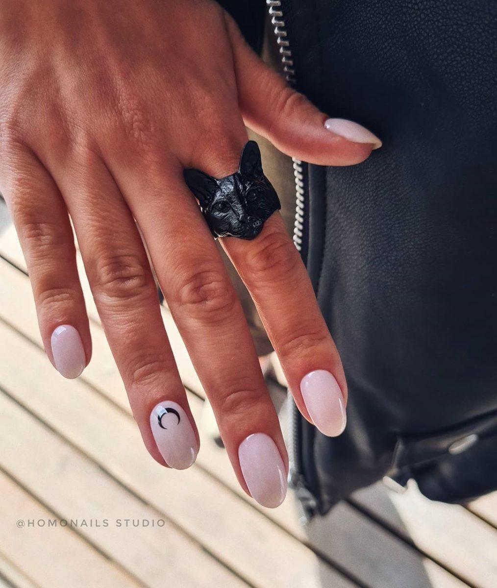Круглая форма ногтей: 20 дизайнов самого востребованного маникюра - 16