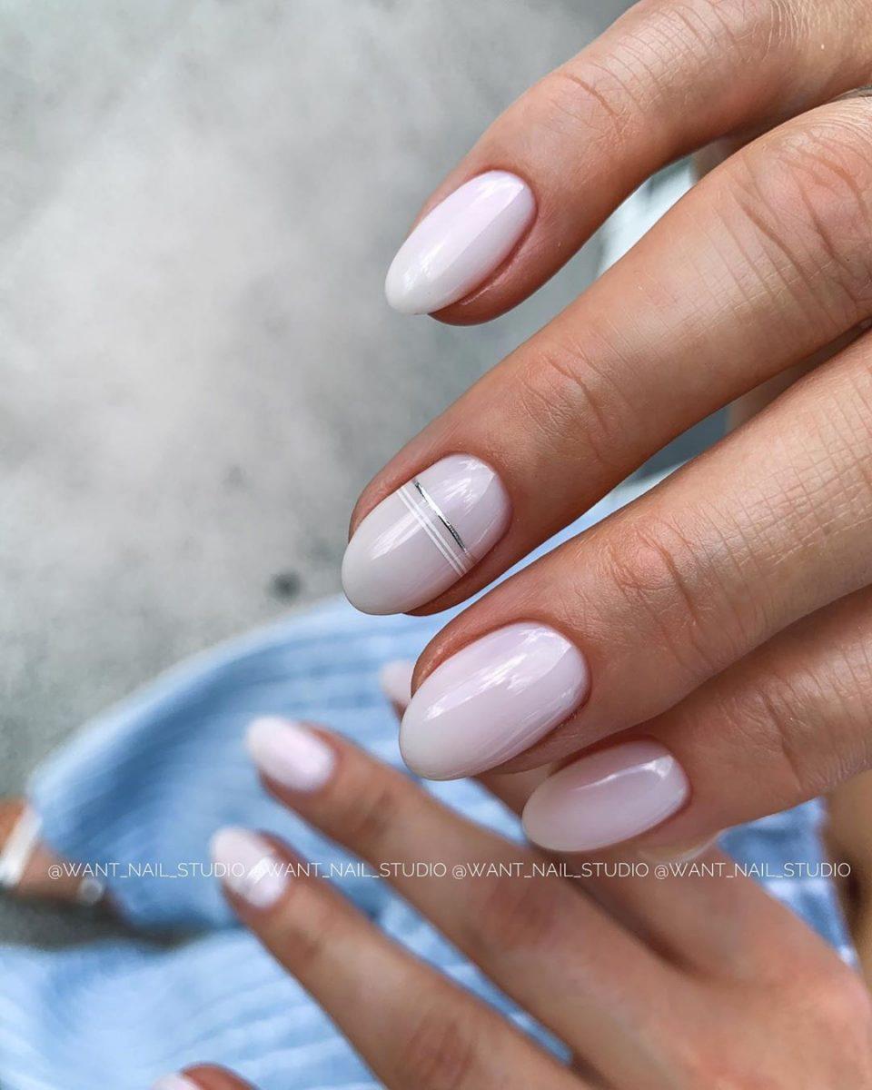 Круглая форма ногтей: 20 дизайнов самого востребованного маникюра - 19