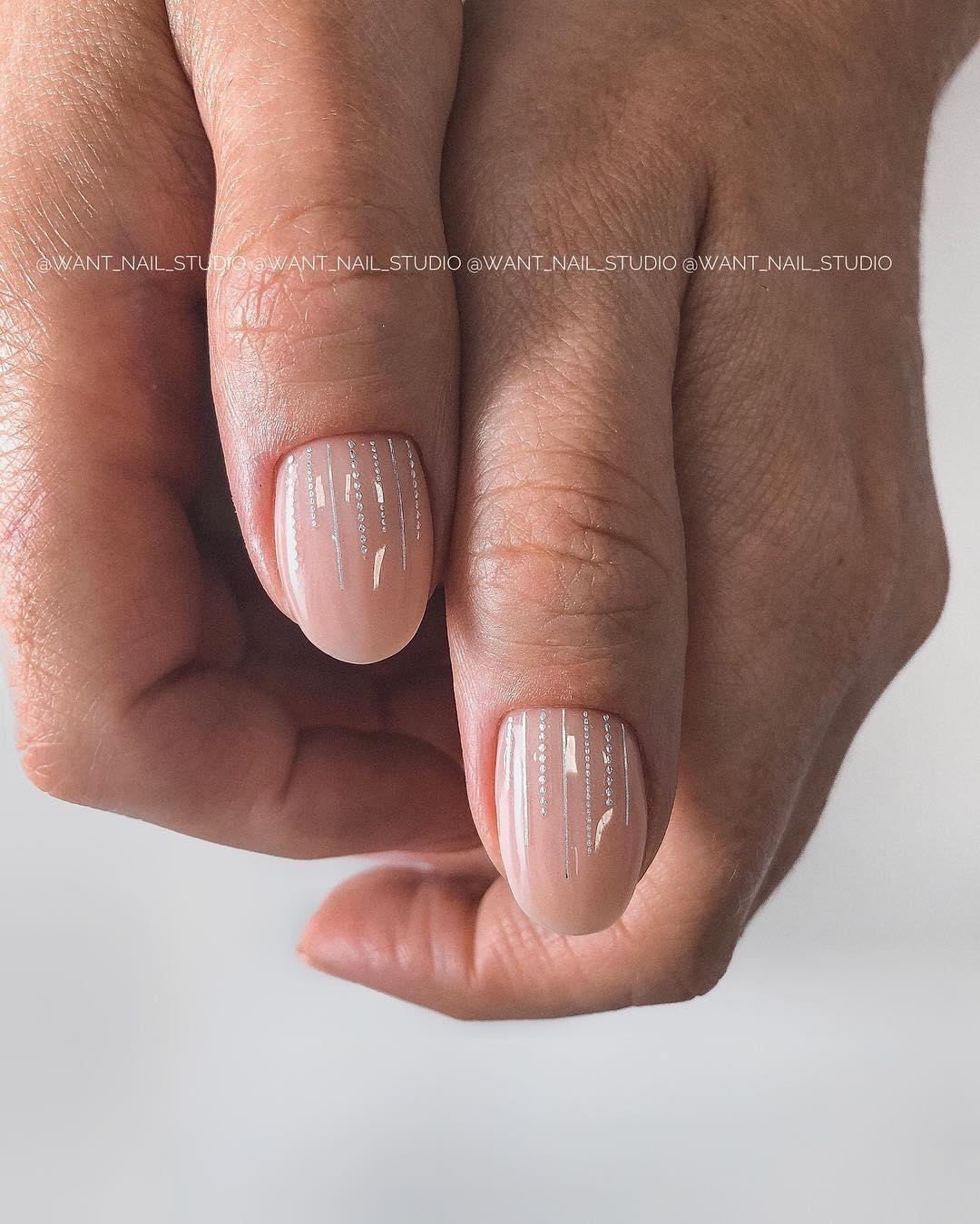 Круглая форма ногтей: 20 дизайнов самого востребованного маникюра - 17