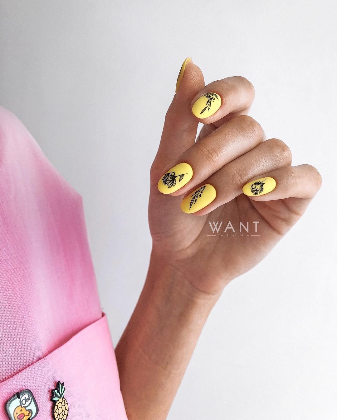 Круглая форма ногтей: 20 дизайнов самого востребованного маникюра - 3