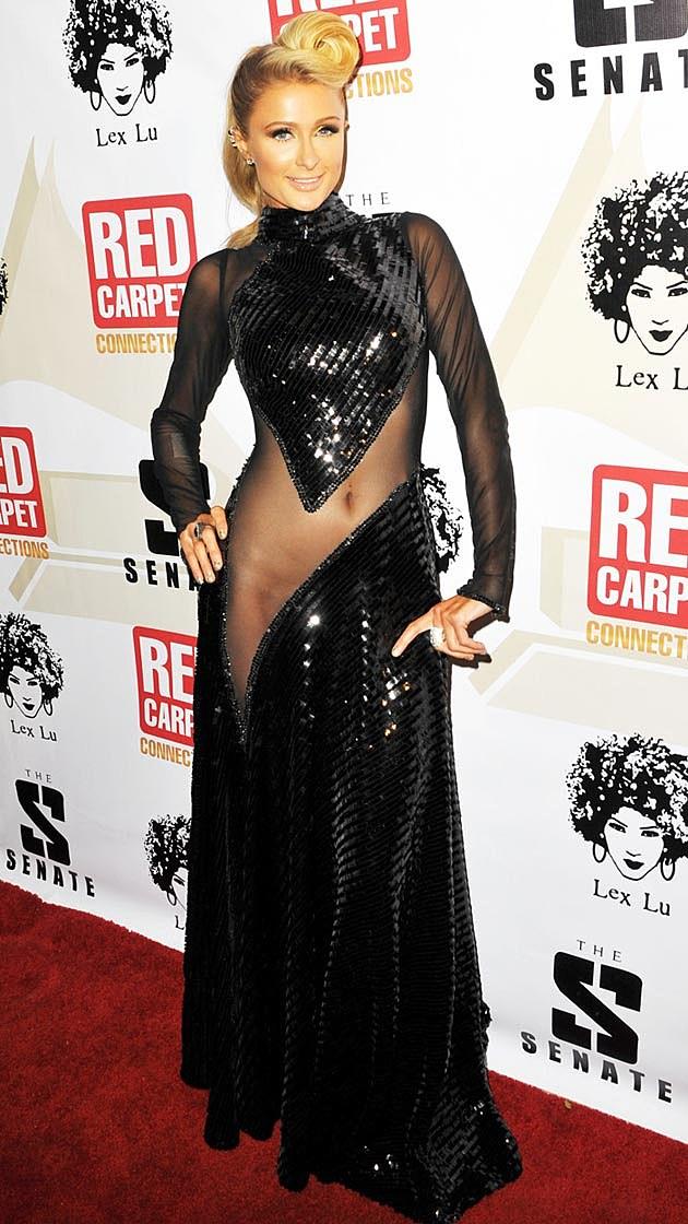 Paris Hilton Goes Commando in Sheer Dress [PHOTOS]