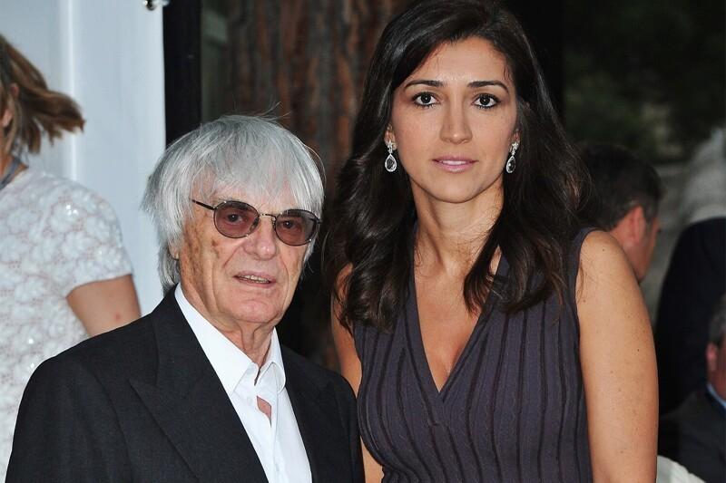"""4. Берни Экклстоун (89 лет) - бывший руководитель """"Формулы-1"""" и его 44-летняя супруга Фабиана Флози"""