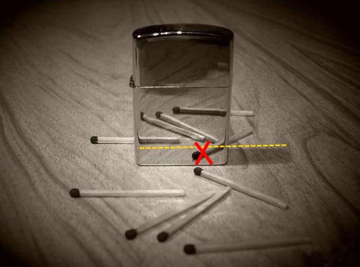 От 10 мача, за да направите 5 кръста. Съвпадение на пъзели с предмети. Къща от Руюмок.